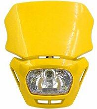 DealMux Yellow Shell Motorrad-Street Fighter Frontscheinwerfer Verkleidungs-Lampe Hellgelb
