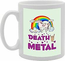 Death Metal Einhorn Funny Tasse Kaffee Becher mit