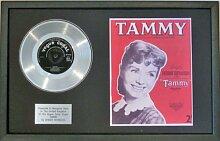 Debbie reynolds- Platinum Disc & Lied Tafeltuch Tammy