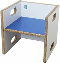 debe.decor - Wandelstuhl, Sitzfläche dunkelblau