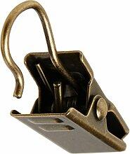 Debel Clips für Ring, Antik Messing, 10-TLG.