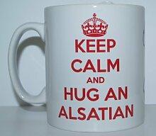 Decalarama Keep Calm and Hug Elsass EIN Hunderasse