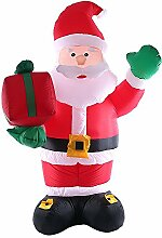 Decdeal 2,4m Aufblasbarer Weihnachtsmann