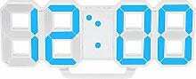 Decdeal 3D LED Wanduhr LED Tischuhr Digital Wecker
