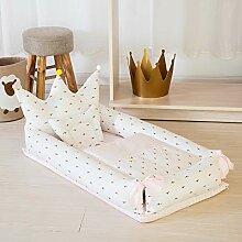 Decdeal 4in1 Babynestchen Set Krone-Form