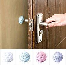 Decdeal 8 Stück Türpuffer Türstopper Wandpuffer Selbstklebend Durchmesser 50 mm Golfballform