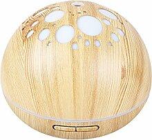 Decdeal Aroma Diffuser Ultraschall Luftbefeuchter 300ml Holzmaserung Humidifier mit 7 Farben LED Licht und Timing-Funktion
