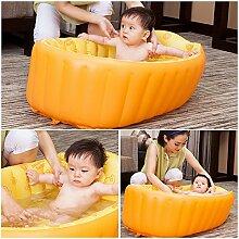 Decdeal Aufblasbarer Babybadewanne Badewannensitz Schwimmbecken für Baby und Kleinkinder (0-3 Jahre) Anti-Rutschsicherhei