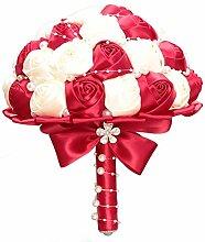 Decdeal Hochzeit Bouquet Künstlich Brautstrauss