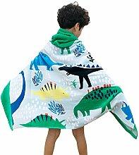 Decdeal Kinder Badeponcho Badetuch mit Kapuze aus
