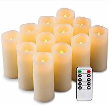 Decdeal LED Kerzenlicht Flammenloses