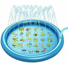 Decdeal Sprinkler Wasserspielmatte Splash Pad