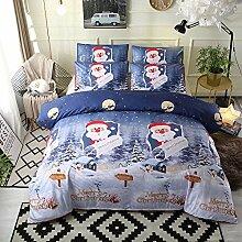 Decdeal Tröster Bettbezug Set Frohe Weihnachten