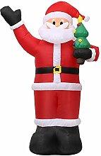 Decdeal Weihnachtsmann Aufblasbar Beleuchtung