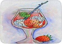 DECISAIYA Badteppich,Red Bar Cocktail Eis