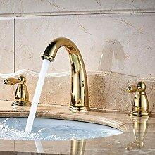 Deck montiert 3 Stück Badewanne Wasserhahn Set
