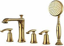 Deck-Typ 5-Loch Badewanne Wasserhahn (PVD Gold)