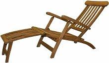 Deckchair aus massiv Teak Holz klappbar 9715