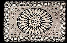 Deckchen mit Spitze, rechteckig, 30,5 cm,