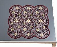 Deckchen Weihnachten 26x26 cm aus purer Spitze