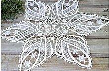 Deckchen Weihnachten Stern 30 cm aus purer Spitze