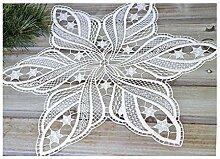 Deckchen Weihnachten Stern 45cm aus purer Spitze