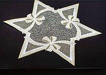 Deckchen Weihnachten Stern 59 cm aus purer Spitze