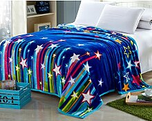 Decke/Coral Teppich im Winter/ Flanell-Decke/ Dicke warme Decke/Blätter von Barclays Daunendecken/ doppelte Student Decke-S 180x200cm(71x79inch)