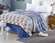 Decke/Coral Teppich im Winter/ Flanell-Decke/ Dicke warme Decke/Blätter von Barclays Daunendecken/ doppelte Student Decke-E 180x200cm(71x79inch)