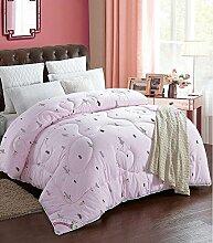 Decke Dicke warme Baumwolle Quilts Quilt Quilt Quilt für Winterbett ist anwendbar ( farbe : A , größe : 220*240cm (9 Pounds) )