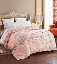 Decke Dicke warme Baumwolle Quilts Quilt Quilt Quilt für Winterbett ist anwendbar ( farbe : B , größe : 180*220cm (5 Pounds) )
