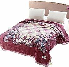Decke Dicke Warme Decke Decke Doppel Herbst Und