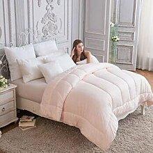 Decke Drucken Thick Warm Double Quilt ( farbe : Pink , größe : 203*229cm )