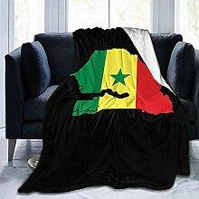 Decke Flag-Karte Von Senegal Hotel Throw Blanket