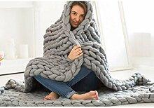 Decke Handgefertigtes Chunky Gestrickte Wolldecke