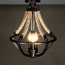Decke,Hanfseil Lampe amerikanische Ländliche