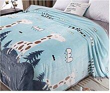 Decke Hellblaue Korallenrot Fleece verdicken