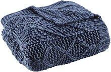 Decke in Blau ca. 130x180 cm 'Saskia'