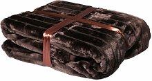 Decke Kuscheldecke 150x200cm braun Wohndecke Nerzoptik Schlafdecke