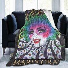 Decke Mardi Gras New Orleans Frau Feder Fleece