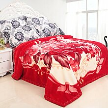 Decke/Verdicken einzelne doppelte Decke/ Winter-Teppich/ Coral Fleece-Decke/ Hochzeit Decke/NAP-Decke-M 220*240cm(87x94inch)
