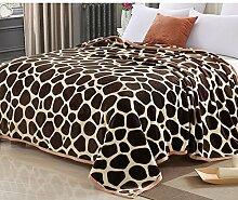 Decke/Verdickte Korallen Teppich/ festliche Decke/ warme Flanell-Bettwäsche/[Einzel Decke]/NAP-Decke-B 150*200cm(59x79inch)