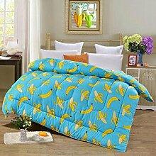Decke Warm Winter ist verdickt durch die Core Quilt Quilts Quilts Doppelzimmer Single mit Schwarz und Weiß Bettwäsche ( farbe : A7 , größe : 150*200cm/4 Pounds )