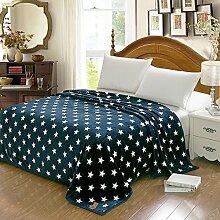 Decke/ wattierte Decke/ doppelte Coral Fleece Bettwäsche/Handtuch/ couch Decke/Schlafsaal Klimaanlage Decke/ Flanell-Decke-H 200x230cm(79x91inch)