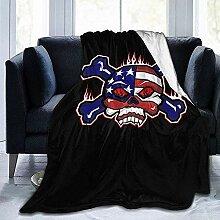 Decke Werfen Usa Skulls Flag Hotel Wohnzimmer