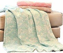 Decke Wolldecke Kuscheldecke Baumwolle Gaze Peony