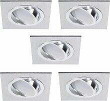 Decken-Einbaustrahler 5er Set | Einbauleuchten LED