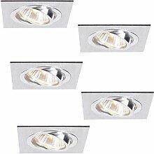 Decken-Einbaustrahler 5er Set | LED Einbauleuchten