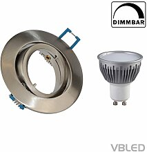 Decken-Einbaustrahler inkl. 5W LED (Dimmbar), GU10