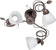 Decken Lampe Ess Zimmer Landhaus Stil Alabaster